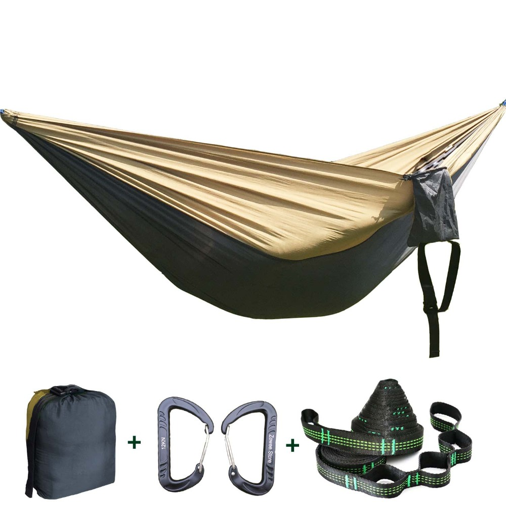 Solid Color Parachute Hammock Camping Survival այգու - Կահույք - Լուսանկար 1