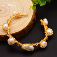 GLSEEVO Natural Fresh Water Baroque Pearl Bracelets For Women Gifts Adjustable Bracelets & Bangle Luxury Fine Jewelry GB0063