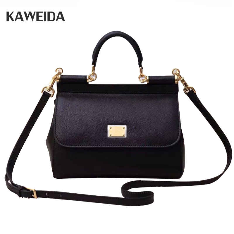 Genuine Leather Ladies HandBags Women Real Leather Crossbody Bags Totes Messenger Bags High Quality Designer Luxury Brand Bag arnagar genuine leather luxury women messenger bags new designer handbags high quality lady tote bag crossbody bag for women