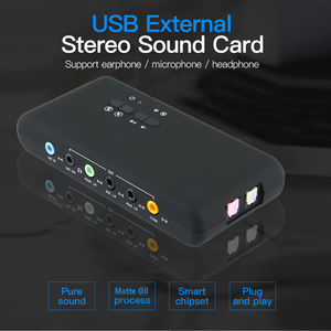 Image 2 - USB2.0 sound card add on cards Cmi 6206 Chipset USB 7.1 Sound Card with SPDIF & USB Extension Cable  remote wake up support