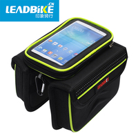 2016 NEW 5 5 Inch Touch Screen Mountain Road MTB Bicycle Bike Frame Saddle Bag Waterproof