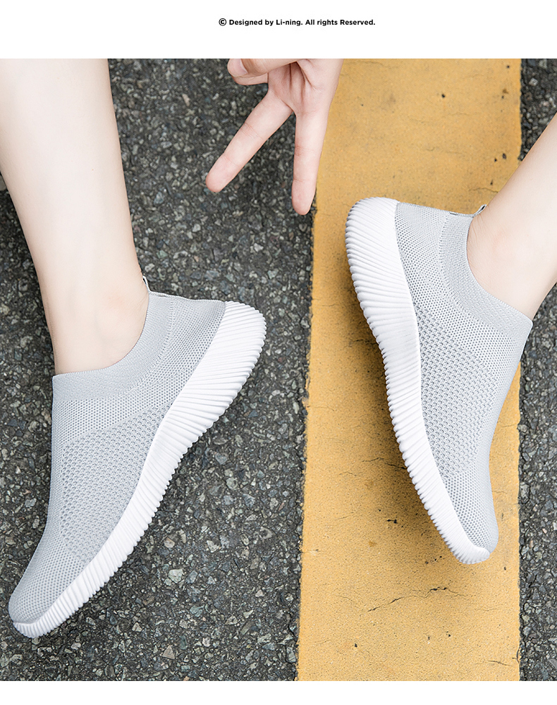 Slip On Flying Knit Women Fashion Sneakers Breathable Flat Heel Casual Shoes Round Toe Low Top Women Shoes XU034 (6)