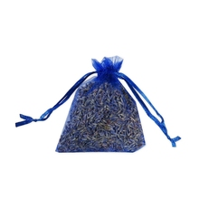 Dried Lavender Sachets Bag Dried Lavender Flowers Buds With Drawstring Organza Pouch  For Weeding Home Office Drawers Car