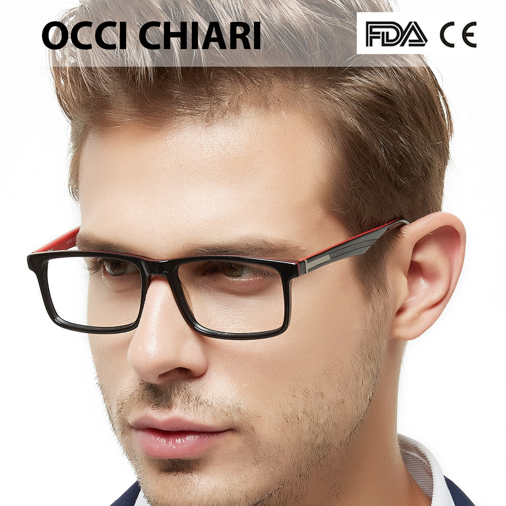 OCCI CHIARI Men Glasses Frames Spectacles oculos de grau gafas Acetate Clear Lens Optical Myopia Prescription Eyeglasses W-CAPUA