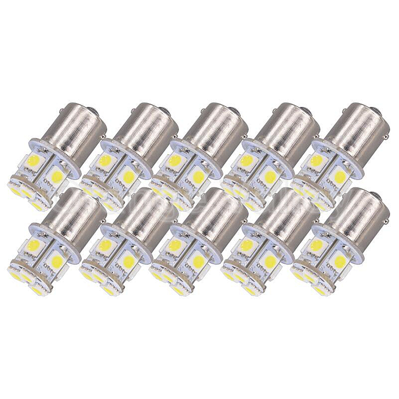 цена на 10Pcs 1156 BA15S P21W S25 3496 Car Leds Lights 8 5050 SMD Brake Lights Turn Signal Lamp Backup Light DC 12V/24V