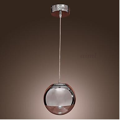Pendant Light Modern/Contemporary Globe Chrome Feature for Mini Style Metal Dining Room 90-260V pendant light 110-240v modern contemporary chrome feature for led acrylic pendant light living room bedroom dining room dining room