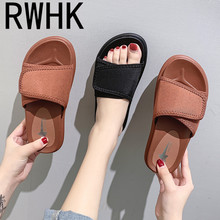 rwhk Slippers women wear Korean version of thick-bottomed muffin with a word drag female slippers 2019 new B503