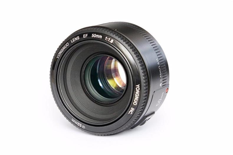 YONGNUO YN50mm F1.8 Standard Prime Lens Large Aperture Auto Focus Lens for Canon EF Mount Rebel 650D 700D 7D DSLR Camera Lens 4
