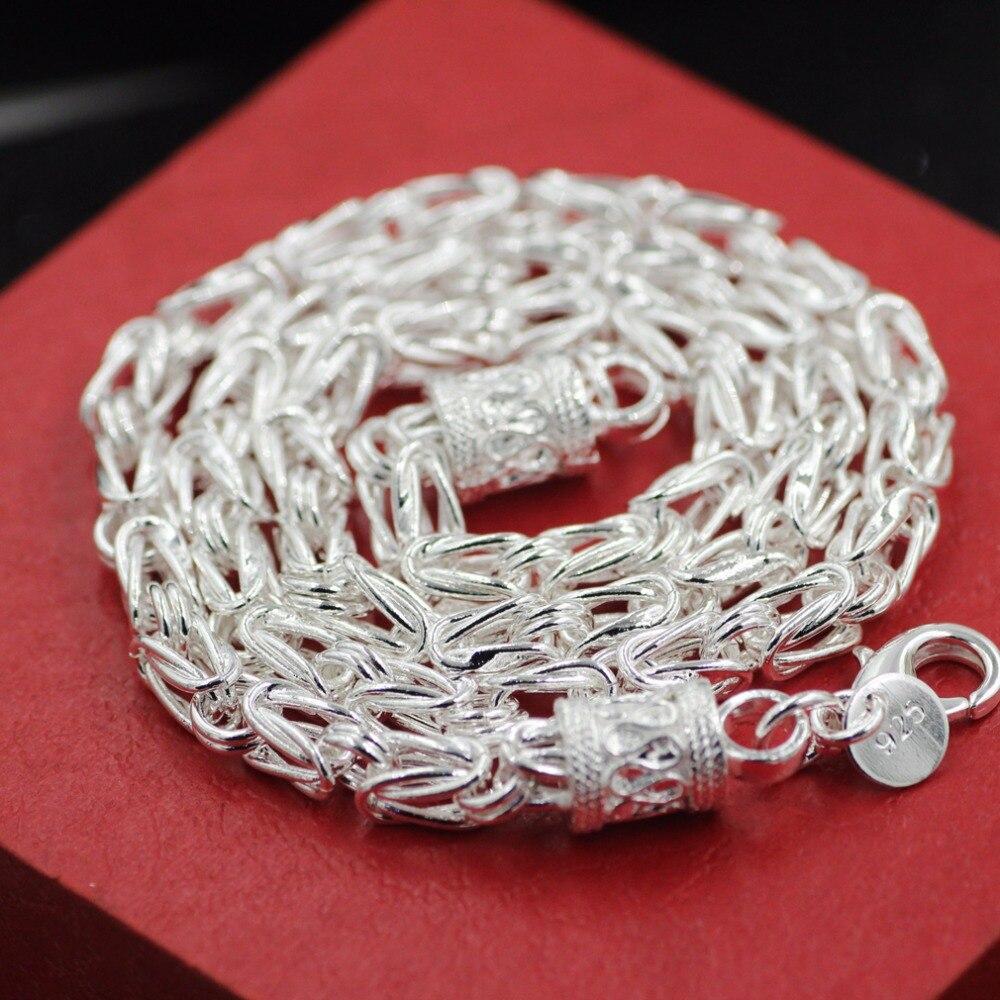 925 mincovní stříbro náhrdelník dračí hlava muži šperky 5 mm 100% S925 pevné stříbrné řetízky náhrdelníky mužské šperky výroba 20 palců
