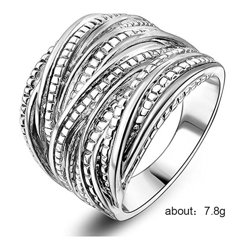 Silver 925 Ring Diamond Rings Treasure ring men 39 s accessories Couple multi layer metal ring brand jewelry rose gold opal B1400 in Rings from Jewelry amp Accessories