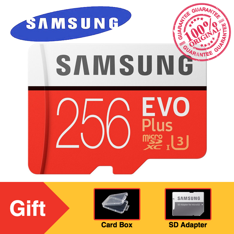 Original SAMSUNG Micro SD Memory Card EVO Plus 256GB 95MB/s Class10 U3 UHS-I TF Card 4K HD with Adapter for Smartphone Tablet холст 20х30 printio летний лес