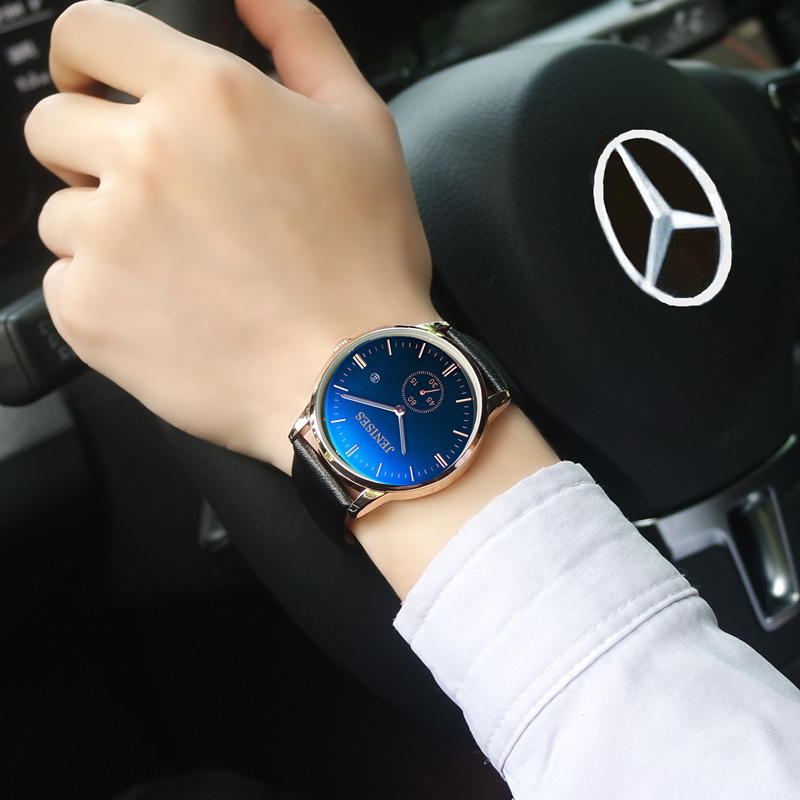 Strap watch male sports male table ultra-thin waterproof brief quartz watch gts 1004 waterproof male japan quartz watch silicone strap