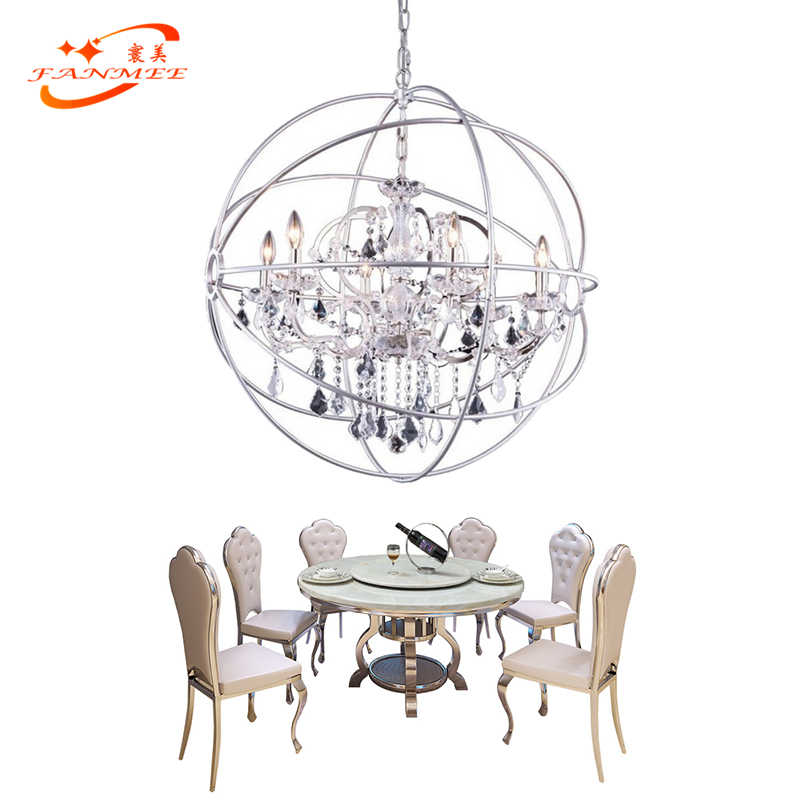 Modern Orb Crystal Chandelier Lighting Pendant Hanging Lamp LED Globe Chandelier Lighting Chrome Orb Cristal Chandelier Lamp