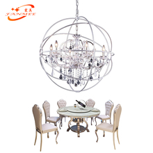 Modern Orb Crystal Chandelier Lighting Pendant Hanging Lamp LED Globe Chandelier Lighting Chrome Orb Cristal Chandelier Lamp цены