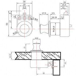 Image 2 - 10 יחידות לדחוף כפתור ארון דלת עדיפה להיצמד Knob מגירת ארון RV קרוון חניך קרוואן סירת חלקי חומרה