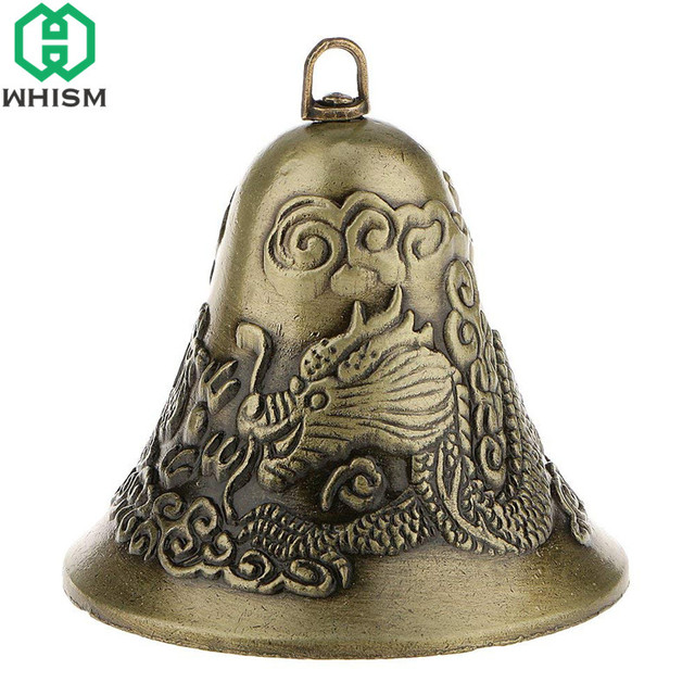 WHISM Antique Zinc Alloy Jingle Bell Small Christmas Bells Charms Feng Shui Wind Chime Pendant Vintage Metal Jewelry Accessories 3