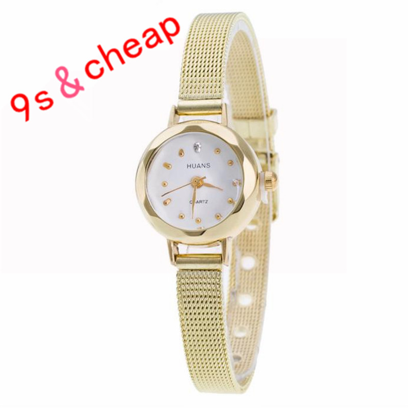 Quartz Watch Women Small Round Dial Stainless Steel Woven Mesh Band Simple Casual Ladies Wrist Watches Relogio Feminino#110717 feitong luxury women watch simple style stainless steel mesh band analog quartz wrist watches relogio feminino 2017 montre femme
