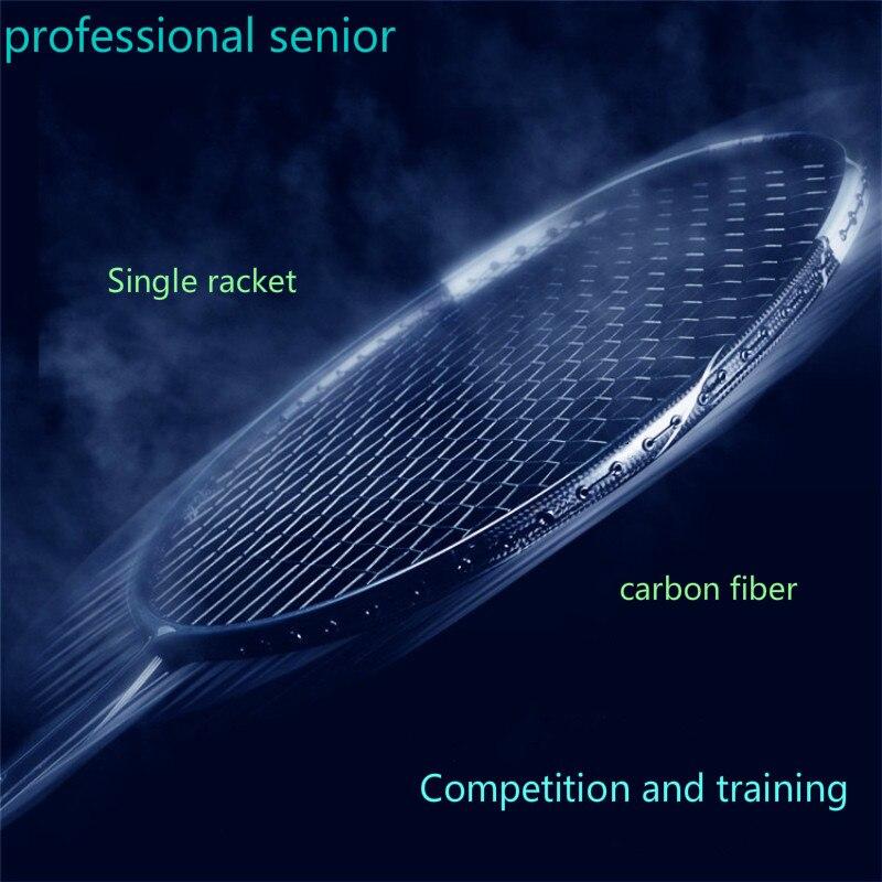 Профессиональная старшая ракетка для бадминтона 5U, тренировочный супер светильник из углеродного волокна, 6U мяч, один battledore с бесплатным ло