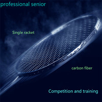 Professional Senior Badminton Racket Offensive 5U Match Training Super Light Carbon Fiber 6U Ball Single Battledore