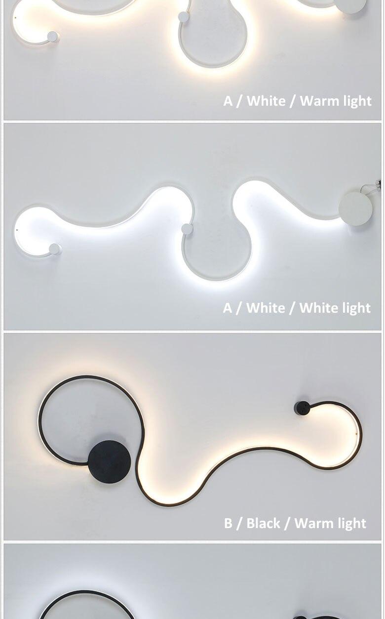 Criativo moderno e minimalista lâmpada de parede
