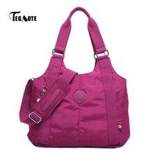 TEGAOTE сумка мессенджер для женщин, роскошные дизайнерские кошельки и сумочка, нейлоновые сумки с верхними ручками, Женская Повседневная сумка 2020