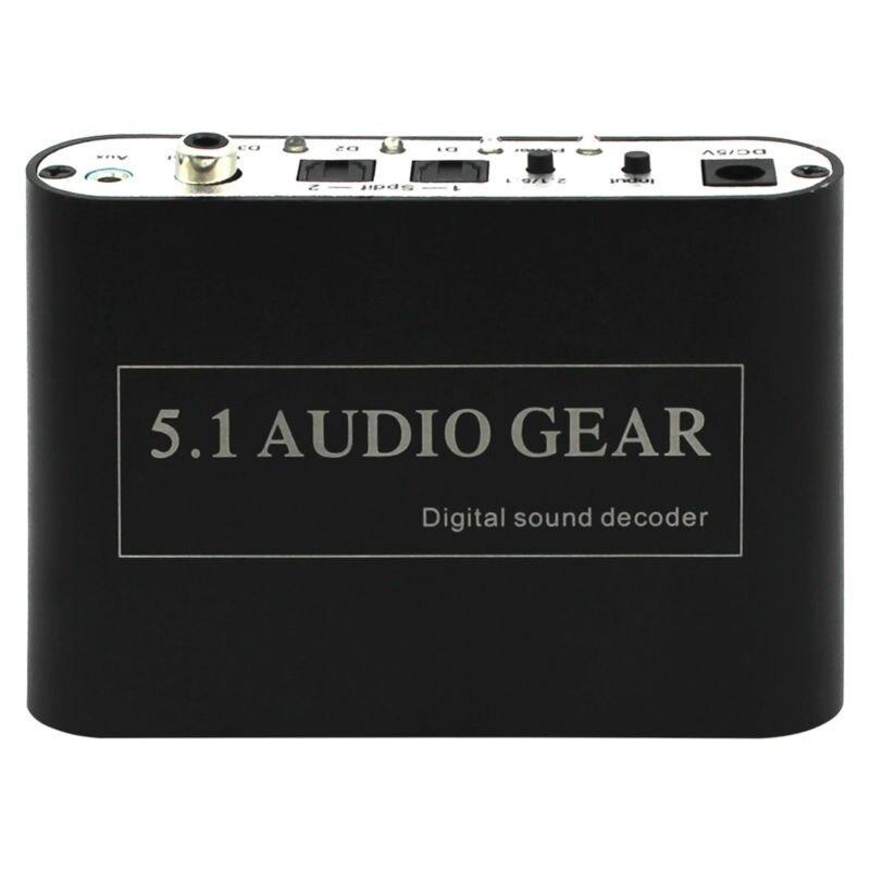 1 PCS New Digital Audio Decoder 5.1 Audio Gear DTS/AC-3/6CH Digital Audio converter mastering digital audio production