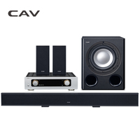 CAV Home Theater System 5.1 Bluetooth Soundbar Subwoofer Smart Multi 5.1 Channel Metal DTS Surround Dolby Digital Home Theater