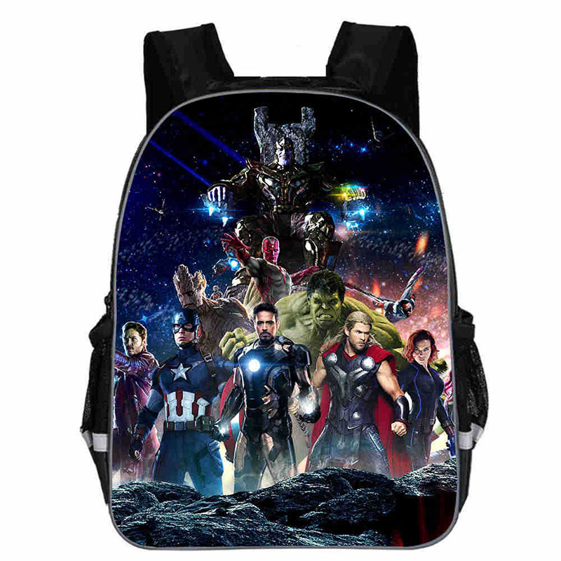 13 Inch Iron Man Backpacks Hulk Thor School Bags Daily Travel Bag Boys Girls Double Shoulder Bags