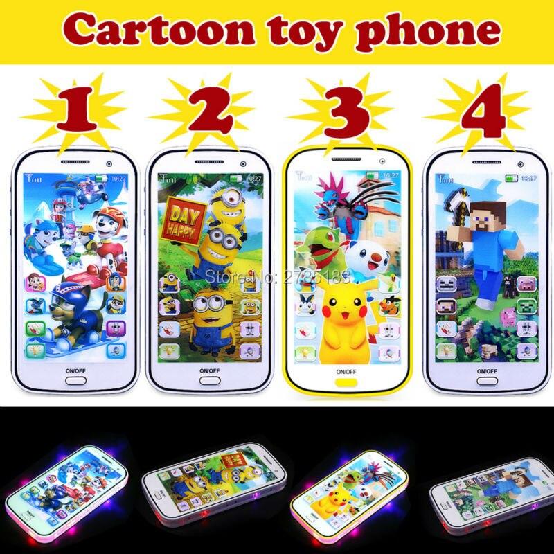 English language Cartoon children learn Multifunctional playmobil Eletronicos educational music baby toys phone 4 Styles