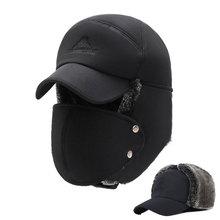 Mens Winter Hats Ear Flaps Bomber Hats W