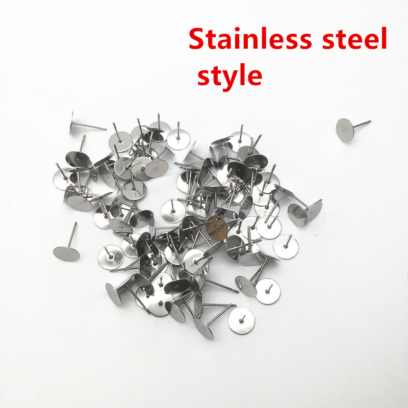 200pcs Metal Blank Earring Stud Base Fit 3 4 5 6 mm Gold Earring Post Flat Base Pins Settings DIY Jewelry Making HK022 100pcs lot stainless steel blank post earring studs pins silver gold color flat round tray base 6 8mm ear jewelry findings