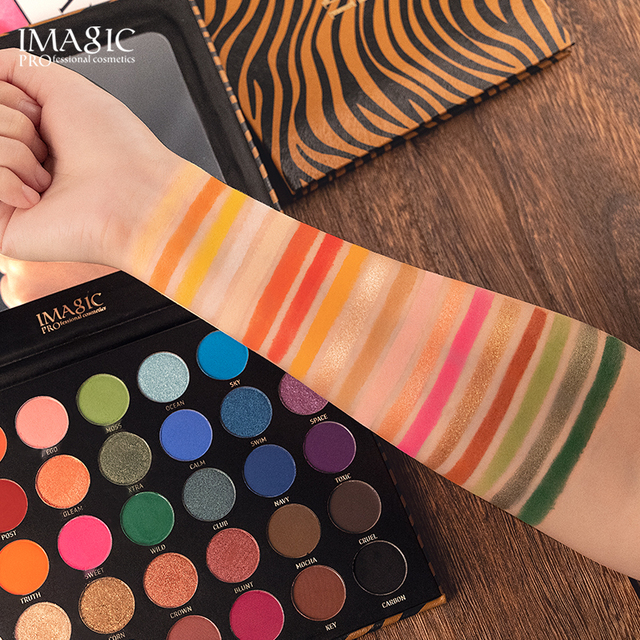 IMAGIC 35 color eyeshadow palette waterproof matte glitter eye shadow primer luminous eyeshadow ladies gift Qual Codigo Rastreio 2