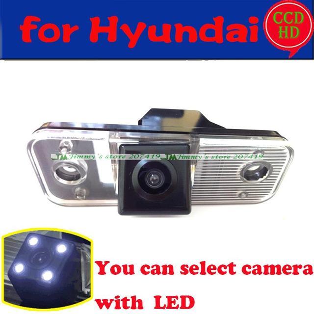 Para a SONY CCD com LEDS Car Rear View CAMERA Reversa de Backup para Hyundai SANTA FE/Azera/Santafe Com o Guia de Linha sem fio de arame