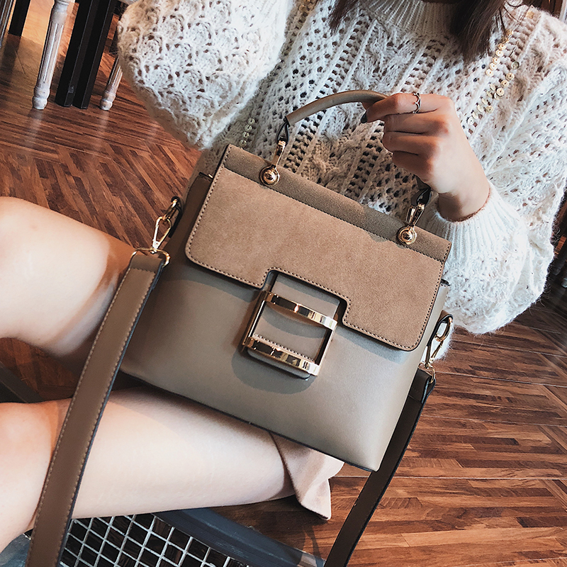 European Style Retro Female Bag 2018 Fashion New Handbag High Quality PU Leather Women Bag Big Tote Bag Portable Shoulder Bags