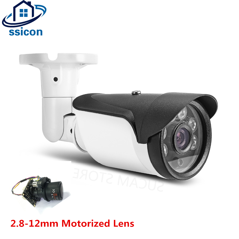 SSICON 2.8-12mm Motorized Lens Outdoor AHD Camera 4X Auto-Zoom 6Pcs Array Leds Waterproof Bullet Security Camera With OSD CableSSICON 2.8-12mm Motorized Lens Outdoor AHD Camera 4X Auto-Zoom 6Pcs Array Leds Waterproof Bullet Security Camera With OSD Cable