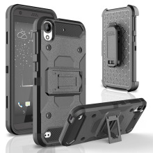 Heavy Duty Hybrid Armor Case Shockproof Holster+Belt Clip Kickstand Cover Case For HTC Desire 530 630 For Cricket HTC DESIRE 555