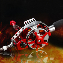 2016 New Fishing Reels AC40-50 Middle Pass Through Reel Strong Speed Ratio 3:1 Sea Fishing Pole Reel Tackle 2Color Available