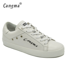 Womens Shoes CANGMA Sneakers Flats Italian White Designer Genuine-Leather Woman Casual