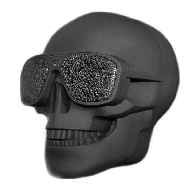2018 New Plastic Metallic SKULL Wireless Bluetooth Speaker Sunglass NFC Skull Speaker Mobile Subwoofer Multipurpose Speaker