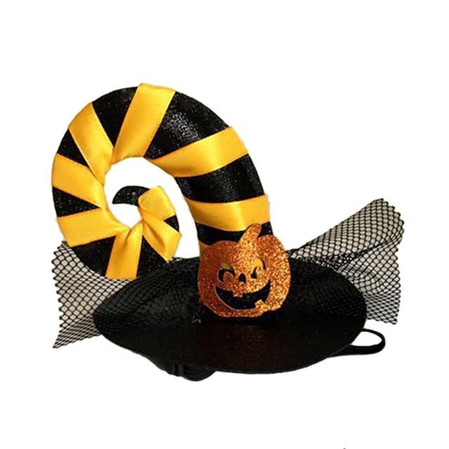 PETFORU Spider Pumpkin Hat Pet Dog Cat Cosplay Witcher Cap Costume for Halloween Festival Decoraction 3