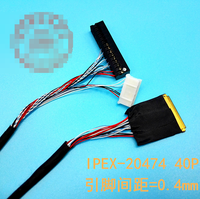 LCD screen cable Kit support Universal LVDS Cable I-PEX 20474 40P single6 LVDS cable 0.4mm 300mm