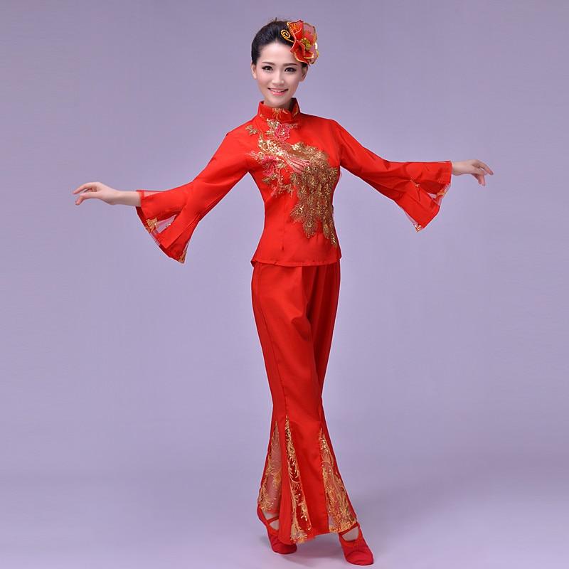 Yangko táncruhák tér táncruházat fan táncruhák kínai népi - Újdonság