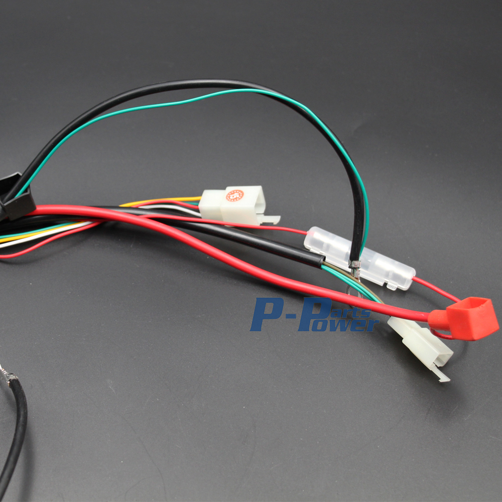 hight resolution of 100 brand new and high quality complete electrics all wiring harness wire loom assembly for 4 stroke quad atv parts replacement repair work