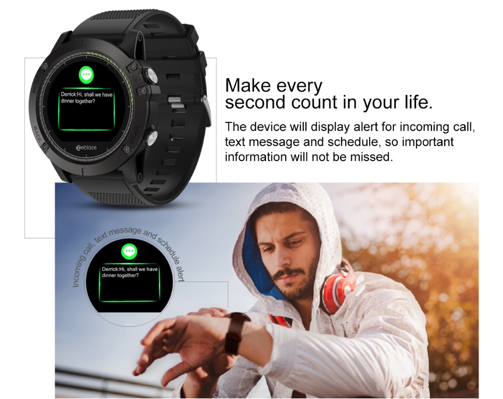 Zeblaze VIBE 3 HR Sport Bluetooth Smart Watch Heart Rate Monitor Pedometer Smartwatch Digital Wrist Watch Men for IOS AndroidZeblaze VIBE 3 HR Sport Bluetooth Smart Watch Heart Rate Monitor Pedometer Smartwatch Digital Wrist Watch Men for IOS Android