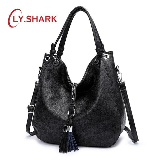 LY.SHARK Luxury Handbags Women Bags Designer Bag Ladies PU Leather Women Handbags Famous Brand Woman Bags 2019 Messenger Bag