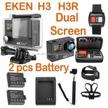 EKEN H3 4 K 25FPS ultra SJ más Acción cam Cam WIFI Actualiza H8se mi doble doble pantalla h3r xiao ir yi deporte sj pro 4 hero cámara