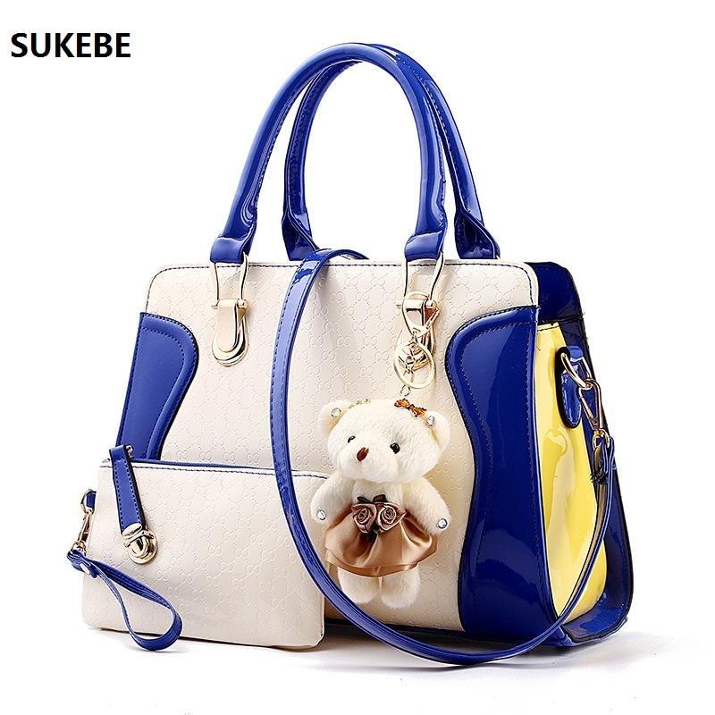 New Fashion Women Bag Little Bear Decoration Shoulder Bags Famous Brand font b Handbag b font