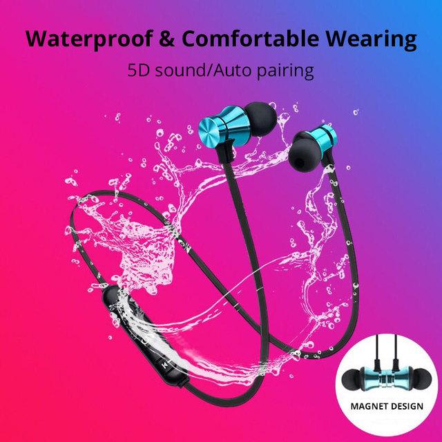 Bluetooth Earphones Magnetic Attraction Wireless Earphone for Phone Bluetooth 4.2 Headphones for Xiaomi Earphone for Meizu Sony