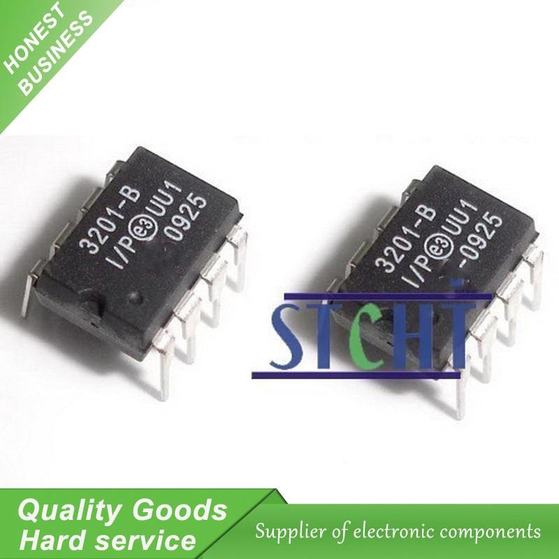 1pcs MCP3201-BI//P 3201-BI//P 12-Bit A//D Converter with SPI Serial Interface