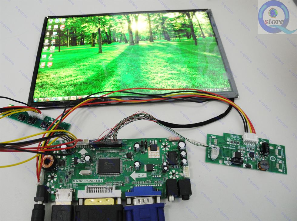 US $151 9 |10 1 inch B101UAN02 1 V 1 1920*1200 Screen + (HDMI+DVI+VGA)LCD  Driver Board Kit-in LCD Modules from Electronic Components & Supplies on